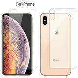 Front and Back Tempered Glass Screen Protector for iPhone 11 Pro Max/11 Pro/11/XS Max/XR/XS/X/8 Plus/8/7 Plus/7/6s Plus/6s/6 Plus/6 - caseative