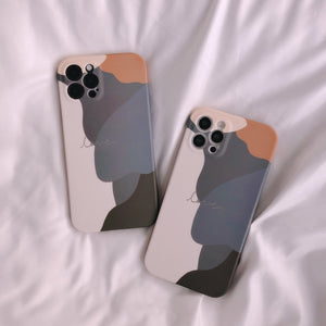 Contrast Color Art Soft iPhone Case