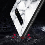 Luxury Marble Tempered Glass Samsung Case