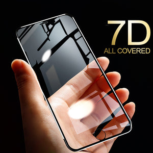 7D Tempered Glass Screen Protector for iPhone 11 Pro Max/11 Pro/11/XS Max/XR/XS/X/8 Plus/8/7 Plus/7/6s Plus/6s/6 Plus/6 - caseative