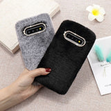 Solid Color Plush Furry Soft Samsung Case