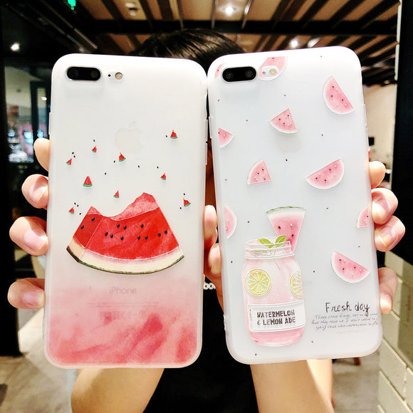 Summer Fresh Fruit Watermelon Phone Case Back Cover for OPPO Reno/Find X/R15X/R15 Dream Mirror/R15/R17/R17 Pro/A9/A7/A5/A3 - caseative