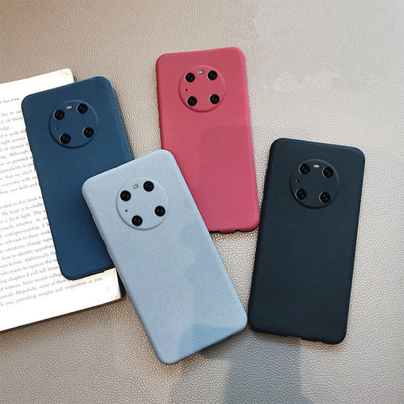 Solid Color Matte Soft Huawei Case