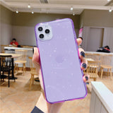 Transparent Glitter Phone Case Back Cover for IPhone SE/11/11 Pro/11 Pro Max/XS Max/XR/XS/X/8 Plus/8/7 Plus/7 - caseative