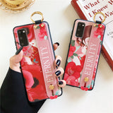 Relief Chinese Style Girl Wrist Strap Stand Holder Soft Samsung Case