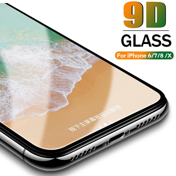 9D Full Protective Tempered Glass Screen Protector for iPhone 11 Pro Max/11 Pro/11/XS Max/XR/XS/X/8 Plus/8/7 Plus/7/6s Plus/6s/6 Plus/6 - caseative
