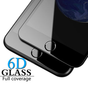 6D Full Cover Tempered Glass Screen Protector for iPhone 11 Pro Max/11 Pro/11/XS Max/XR/XS/X/8 Plus/8/7 Plus/7/6s Plus/6s/6 Plus/6 - caseative