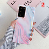 Laser Colorful Marble Soft Samsung Case