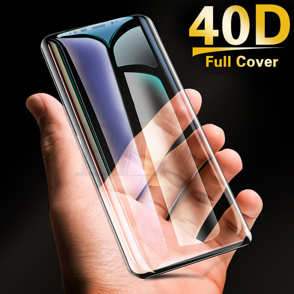 40D Full Curved Tempered Glass Screen Protector for Samsung Galaxy S10E/S10 Plus/S10/S9 Plus/S9/S8 Plus/S8/Note 8/Note 9 - caseative