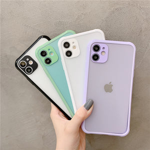 Solid Color Matte Border Soft iPhone Case