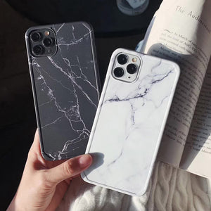 Shockproof Marble Pattern Soft Phone Case Back Cover for iPhone SE/11/11 Pro/11 Pro Max/XS Max/XR/XS/X/8 Plus/8/7 Plus/7 - caseative