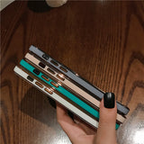 Solid Color Frame Soft iPhone Case