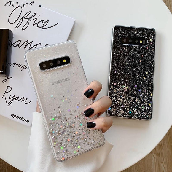 Glitter Bling Soft Silicone Phone Case Back Cover for Samsung Galaxy S10E/S10 Plus/S10/S9 Plus/S9/S8 Plus/S8/Note9/Note8 - caseative