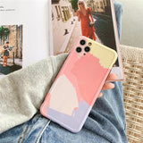 Art Oil Painting Frame Camera Protector Soft iPhone Case