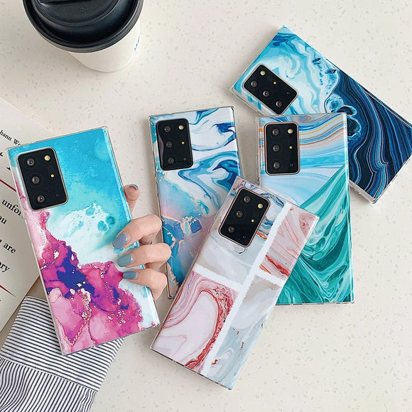 Watercolor Gradient Marble Soft Samsung Case