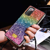 Glitter Diamond Gradient Rainbow Soft Samsung Case