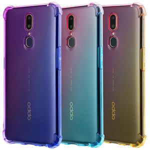 Luxury Gradient Air Pack Corner Phone Case Back Cover for OPPO Reno/Find X/R15X/R15 Dream Mirror/R15/R17/R17 Pro/A9/A7/A5/A3 - caseative