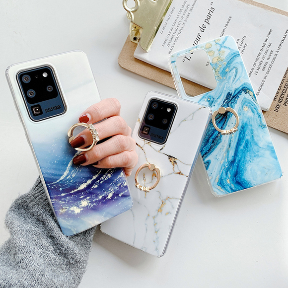 Marbling Silicone Soft Samsung Case