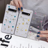 Real Dried Flower Transparent Soft Samsung Case