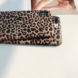 Sexy Leopard Print Matte Soft Phone Case Back Cover for iPhone SE/11/11 Pro/11 Pro Max/XS Max/XR/XS/X/8 Plus/8/7 Plus/7 - caseative