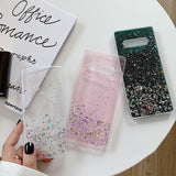 Glitter Bling Soft Silicone Phone Case Back Cover for Samsung Galaxy S20 Ultra/S20 Plus/S20/S10E/S10 Plus/S10/S9 Plus/S9/S8 Plus/S8/Note 10 Pro/Note 10/Note 9/Note 8 - caseative
