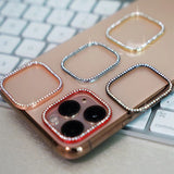 Round Rhinestone Diamond Metal Camera Len Protector for iPhone 11/11 Pro/11 Pro Max/XS Max/XR/XS/X/8 Plus/8/7 Plus/7 - caseative