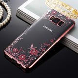 Rose Flower Soft Silicone Phone Case Back Cover for Samsung Galaxy S10E/S10 Plus/S10/S9 Plus/S9/S8 Plus/S8 - caseative
