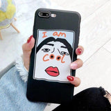 Funny Cartoon Couples I AM COOL Ultra Slim Soft TPU Phone Case Back Cover for iPhone 11 Pro Max/11 Pro/11/XS Max/XR/XS/X/8 Plus/8/7 Plus/7/6s Plus/6s/6 Plus/6 - caseative