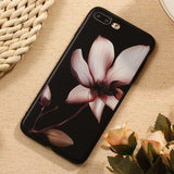 3D Relief Flower Luxury TPU Silicone Rubber Soft Phone Case Back Cover for iPhone SE/11 Pro Max/11 Pro/11/XS Max/XR/XS/X/8 Plus/8/7 Plus/7/6s Plus/6s/6 Plus/6 - caseative