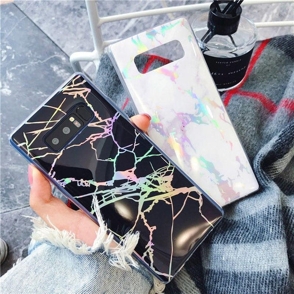 Ladycases - Phone Case Expert - Luxury Fashion Laser Marble Phone Case Back Cover for Samsung Galaxy S9 Plus/S9/S8 Plus/S8/S7 Edge/S7