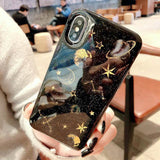 Cartoon Planet Space Star Glitter Powder  Phone Case Back Cover for iPhone SE/11 Pro Max/11 Pro/11/XS Max/XR/XS/X/8 Plus/8/7 Plus/7/6s Plus/6s/6 Plus/6 - caseative