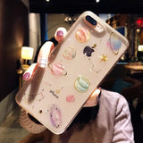 Cartoon Planet Space Star Glitter Powder  Phone Case Back Cover for iPhone XS Max/XR/XS/X/8 Plus/8/7 Plus/7/6s Plus/6s/6 Plus/6 - caseative