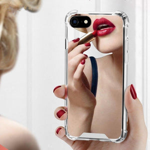 Mirror Anti Shock Hard Acrylic TPU Phone Case Back Cover for iPhone SE/11 Pro Max/11 Pro/11/XS Max/XR/XS/X/8 Plus/8/7 Plus/7/6s Plus/6s/6 Plus/6 - caseative