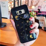 Luxury Glitter Space Planet Stars Shining Transparent Soft TPU Phone Case Back Cover for Samsung Galaxy S10E/S10 Plus/S10/S9 Plus/S9/S8 Plus/S8 - caseative