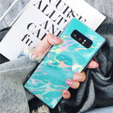 Luxury Fashion Laser Marble Phone Case Back Cover for Samsung Galaxy S10E/S10 Plus/S10/S9 Plus/S9/S8 Plus/S8/Note 8/Note 9 - caseative