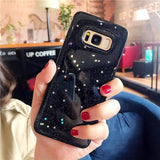 Glitter Sparkling Stars Transparent Soft TPU Phone Case Back Cover for Samsung Galaxy S10E/S10 Plus/S10/S9 Plus/S9/S8 Plus/S8/Note 10 Pro/Note 10/Note 9/Note 8 - caseative