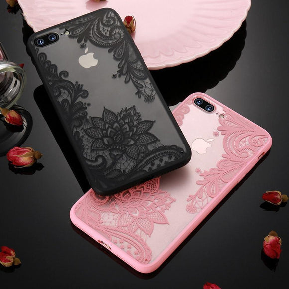 3D Sexy Lace Mandala Flower Phone Case Back Cover for iPhone XS Max/XR/XS/X/8 Plus/8/7 Plus/7/6s Plus/6s/6 Plus/6 - caseative