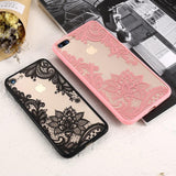 3D Sexy Lace Mandala Flower Phone Case Back Cover for iPhone SE/11 Pro Max/11 Pro/11/XS Max/XR/XS/X/8 Plus/8/7 Plus/7/6s Plus/6s/6 Plus/6 - caseative