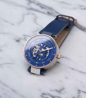 THE ENVOY ROSE GOLD & BLUE