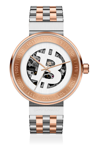 THE CRYPTOMAT SILVER & ROSE GOLD