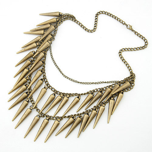 Spikes and Leather Jackets Necklace - Bri Kel