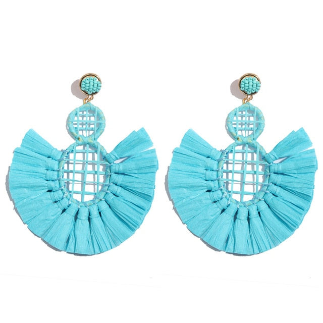 Spoiled Rattan - Tassel Earrings - Bri Kel