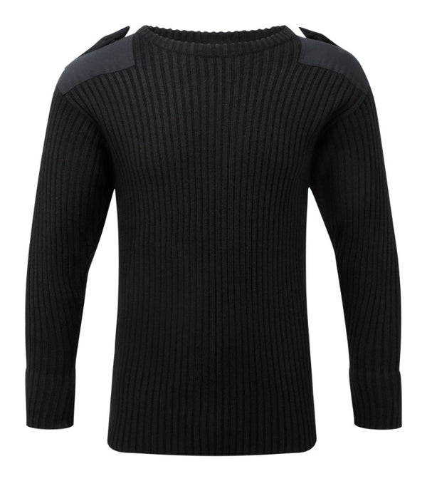 Fort Crew Neck Combat Jumper - Black
