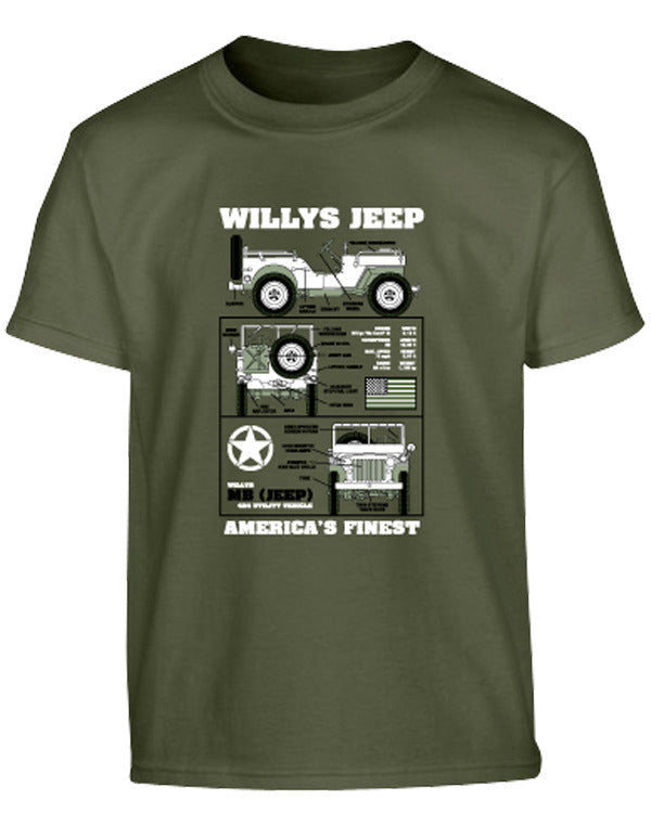 Kombat Kids T-Shirt - Willys Jeep