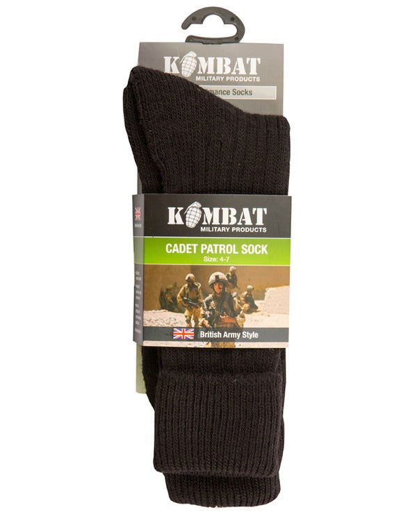 Kombat Cadet Socks - Black