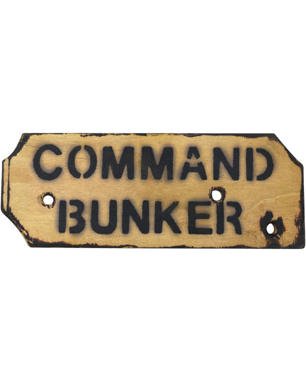 Kids Command Bunker Sign
