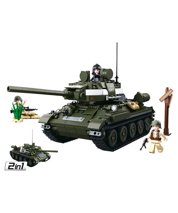Sluban - B0689 (WWII Allied Medium Tank 2in1)