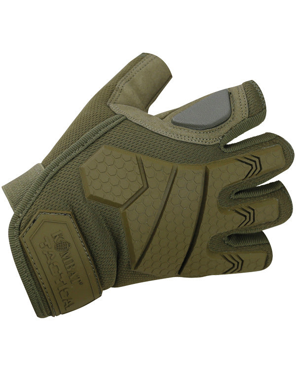 Kombat Alpha Fingerless Tactical Gloves - Coyote