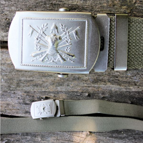 Italian Army Khaki Green Cotton Belt