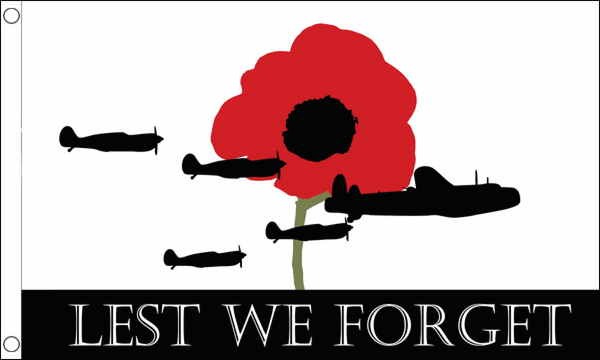 Lest We Forget (RAF) Flag